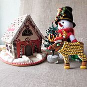 Сувениры и подарки handmade. Livemaster - original item Gingerbread house for New year. The House Of Santa Claus.. Handmade.