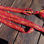 Русский стиль handmade. Livemaster - original item Russian belt, woven on the plates, Arkhangelsk and medieval. Handmade.