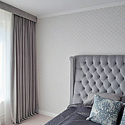 Для дома и интерьера handmade. Livemaster - original item Grey velvet curtains. Handmade.