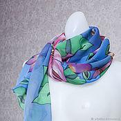 Одежда handmade. Livemaster - original item Blue shawls of silk