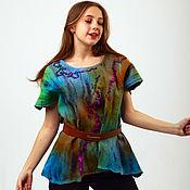 Tunics handmade. Livemaster - original item Felted tunic