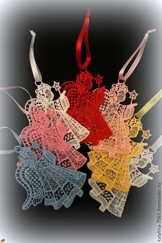 Кулоны, подвески ручной работы. Ярмарка Мастеров - ручная работа. Купить Ажурные Украшения. Handmade. Комбинированный, ангелочек, Водорастворимая бумага