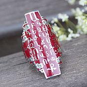 Украшения handmade. Livemaster - original item Alphabet ring in silver and hot enamel GA0008. Handmade.