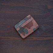 Сумки и аксессуары handmade. Livemaster - original item GHOST CAMOUFLAGE Leather Cardholder. Handmade.