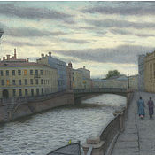 Картины и панно handmade. Livemaster - original item Painting reproduction buy St. Petersburg Griboyedov Canal. Handmade.