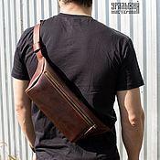 Поясная сумка ручной работы. Ярмарка Мастеров - ручная работа Поясная сумка из натуральной кожи. Handmade.