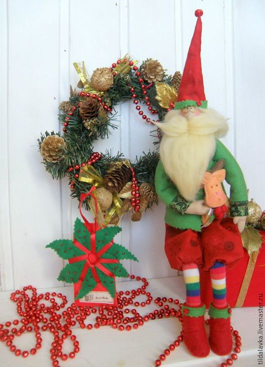 """Куклы Тильды ручной работы. Ярмарка Мастеров - ручная работа. Купить Тильда-Санта """"Мистер Клаус """". Handmade."""