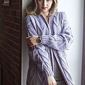 Одежда handmade. Livemaster - original item Textured cardigan lilac. Handmade.