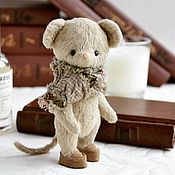 Stuffed Toys handmade. Livemaster - original item Mouse, Teddy mouse. Handmade.