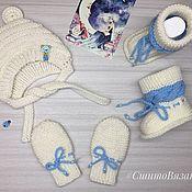 Комплекты одежды ручной работы. Ярмарка Мастеров - ручная работа Комплект для новорождённых на выписку. Handmade.