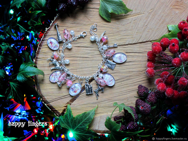 Bracelet 'Harry Potter' deathly Hallows pink, Bead bracelet, Elektrostal,  Фото №1
