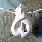 Украшения handmade. Livemaster - original item The Pear, porcelain necklace. Handmade.