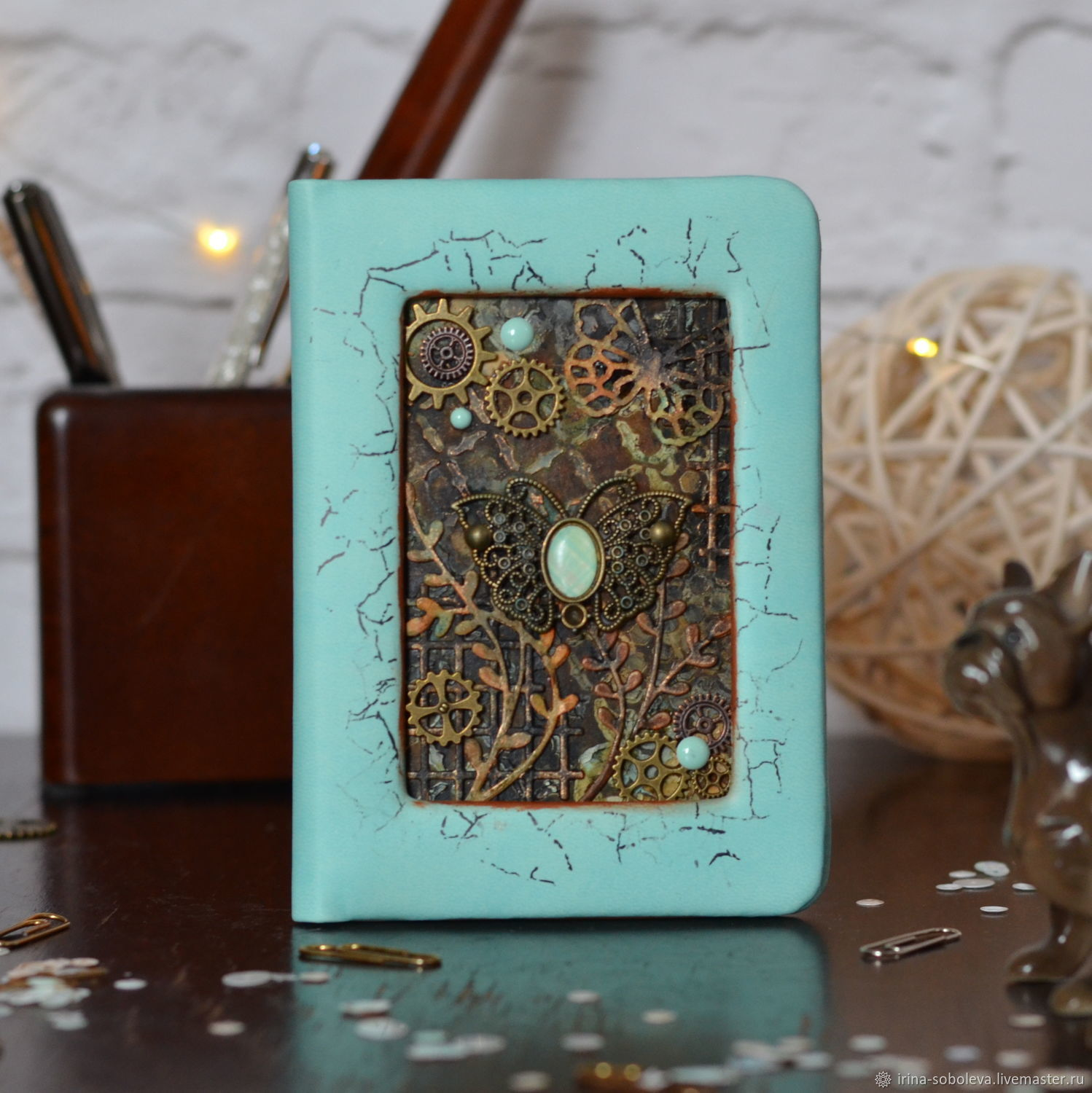 Mint handmade passport cover, Cover, Moscow,  Фото №1