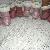 Одежда для кукол ручной работы. Ярмарка Мастеров - ручная работа Обувь для Беби бон- угги. Handmade.