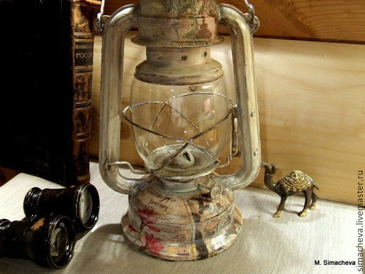 Освещение ручной работы. Ярмарка Мастеров - ручная работа. Купить Лампа керосиновая Ностальгическое путешествие. Handmade. Керосиновая лампа