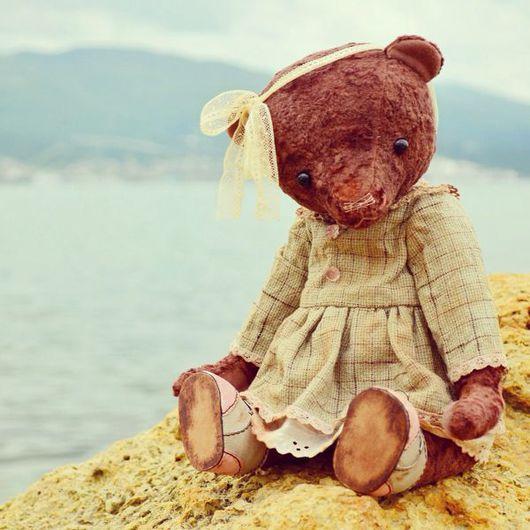 Мишки Тедди ручной работы. Ярмарка Мастеров - ручная работа. Купить Эмма. Handmade. Мишка тедди, японский фактурный хлопок