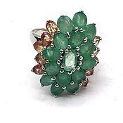 handmade. Livemaster - original item ring with emeralds. Handmade.