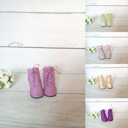 Куклы и игрушки ручной работы. Ярмарка Мастеров - ручная работа. Купить Обувь для куклы 5 см. Handmade. Кеды, текстиль