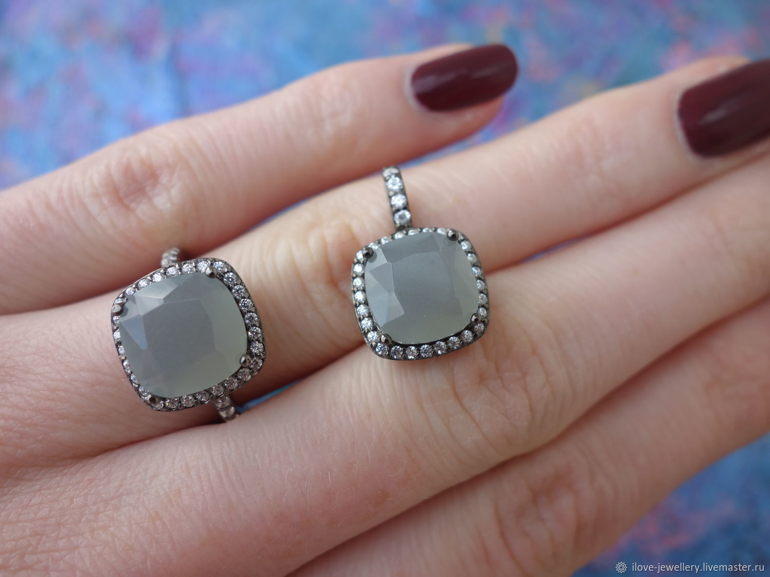 'Fausto ' - fashionable silver set with a silver moonstone, Jewelry Sets, Moscow,  Фото №1