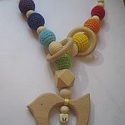 Работы для детей, ручной работы. Ярмарка Мастеров - ручная работа Радуга и птичка на заказ. Handmade.