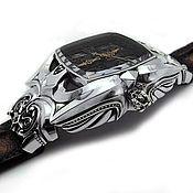 Часы наручные ручной работы. Ярмарка Мастеров - ручная работа Часы из серебра Great Cross AZW-002S. Handmade.