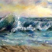 Картины и панно ручной работы. Ярмарка Мастеров - ручная работа Картина из шерсти Волна. Handmade.