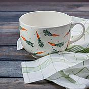 Посуда handmade. Livemaster - original item Soup bowl with carrots, ceramics, handmade.. Handmade.