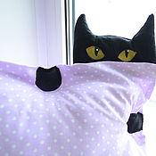 Для дома и интерьера ручной работы. Ярмарка Мастеров - ручная работа Подушка Нинзя кот. Handmade.