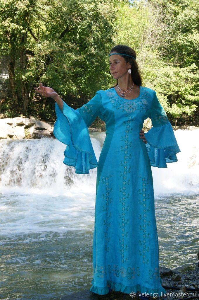 87e2fb3b646 Платья ручной работы. Ярмарка Мастеров - ручная работа. Купить Вечернее  платье из льна с ...