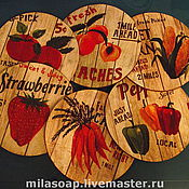 Для дома и интерьера ручной работы. Ярмарка Мастеров - ручная работа Подставки под горячее. Handmade.