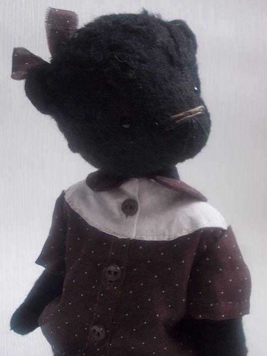 Мишки Тедди ручной работы. Ярмарка Мастеров - ручная работа. Купить Эмили. Handmade. Черный, девочка, подарок, хлопок, опилки