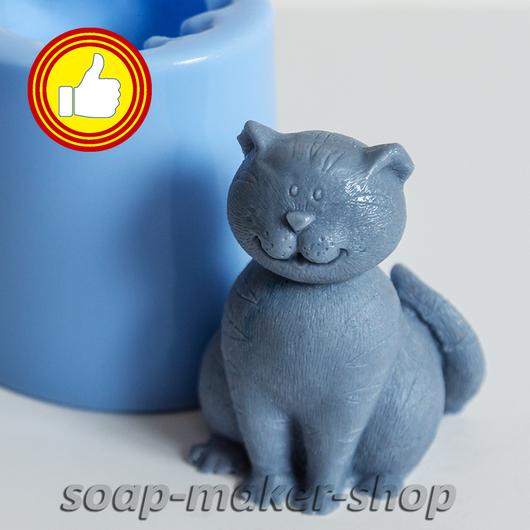 Материалы для косметики ручной работы. Ярмарка Мастеров - ручная работа. Купить Силиконовая форма для мыла «Кот 3 3D». Handmade.