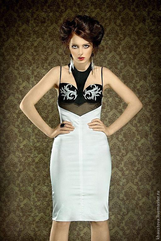 Черно-белое платье с декольте, Платья, Москва,  Фото №1