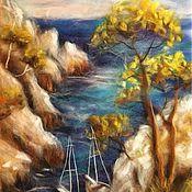 Картины и панно ручной работы. Ярмарка Мастеров - ручная работа Картина из шерсти Итальянский пейзаж. Handmade.