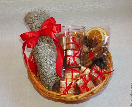 Подарочное оформление бутылок ручной работы. Ярмарка Мастеров - ручная работа. Купить Набор для глинтвейна. Handmade. Ярко-красный