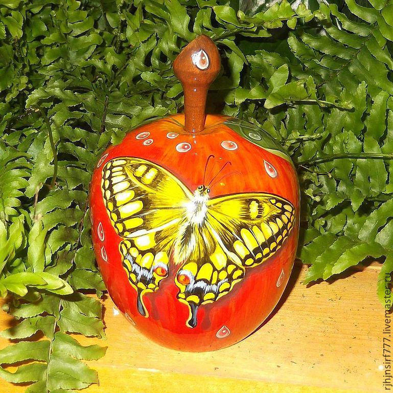 Box Apple Souvenir Painting on wood, Box, Zmeinogorsk,  Фото №1