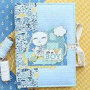 Канцелярские товары ручной работы. Ярмарка Мастеров - ручная работа Мамин дневник (для мальчика). Handmade.