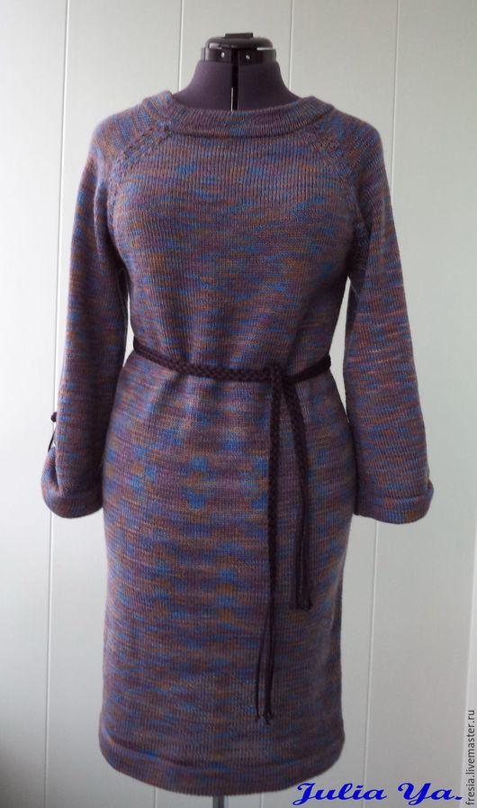 Платья ручной работы. Ярмарка Мастеров - ручная работа. Купить Платье. Handmade. Тёмно-синий, кимоно, полушерсть Германия
