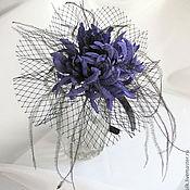 Украшения ручной работы. Ярмарка Мастеров - ручная работа Хризантема-шляпка с сеткой на ободке. Handmade.