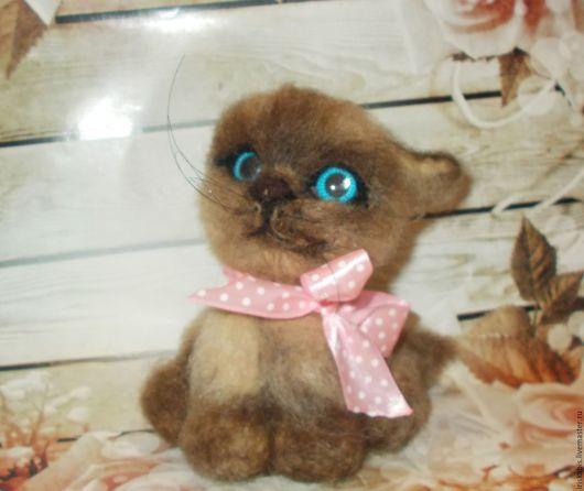 Куклы и игрушки ручной работы. Ярмарка Мастеров - ручная работа. Купить Котенок сиамский Сеня. Handmade. Подарок на любой случай