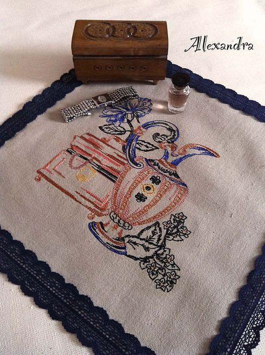 """Текстиль, ковры ручной работы. Ярмарка Мастеров - ручная работа. Купить Салфетка """"Натюрморт"""". Handmade. Салфетка, лён"""