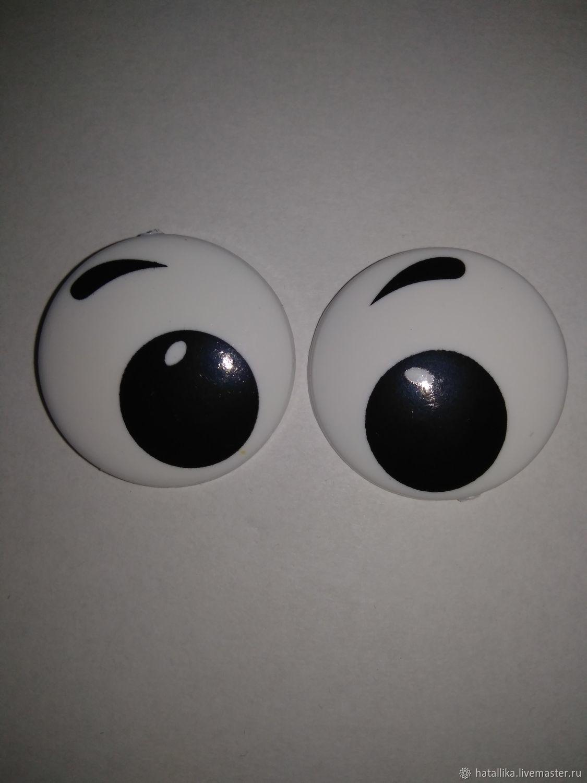 Глазки для игрушек пластиковые рисованные круглые Г41-PR5, Фурнитура для кукол и игрушек, Мытищи, Фото №1