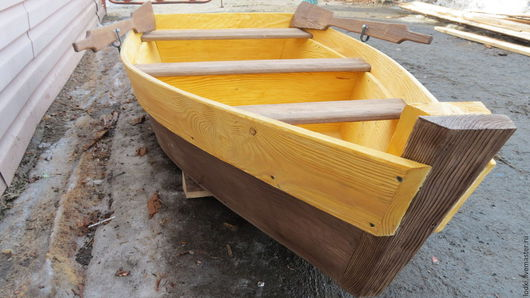 Экстерьер и дача ручной работы. Ярмарка Мастеров - ручная работа. Купить Лодка декоративная. Handmade. Комбинированный, деревянные изделия