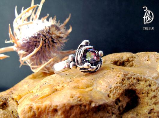 """Кольца ручной работы. Ярмарка Мастеров - ручная работа. Купить кольцо с мистик-топазом """"Little party"""". Handmade. Комбинированный, яркое"""