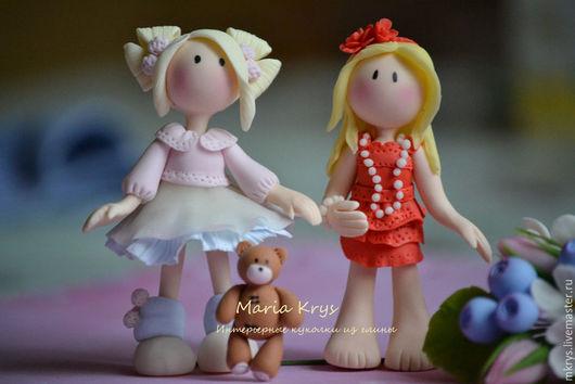 Куклы Тильды ручной работы. Ярмарка Мастеров - ручная работа. Купить Маленькие тильдочки из глины. Handmade. Разноцветный, тильда кукла