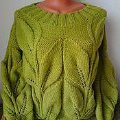 """Одежда ручной работы. Ярмарка Мастеров - ручная работа свитер """"Весенние листья"""". Handmade."""