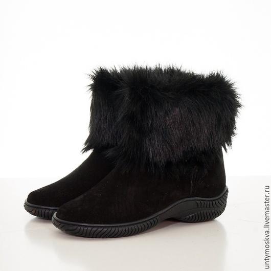 Обувь ручной работы. Ярмарка Мастеров - ручная работа. Купить Унты женские ( литая подошва ) уж74. Handmade.