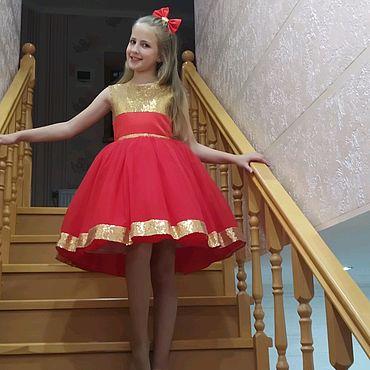 Одежда ручной работы. Ярмарка Мастеров - ручная работа Нарядное, стильное платье для девочки. Handmade.