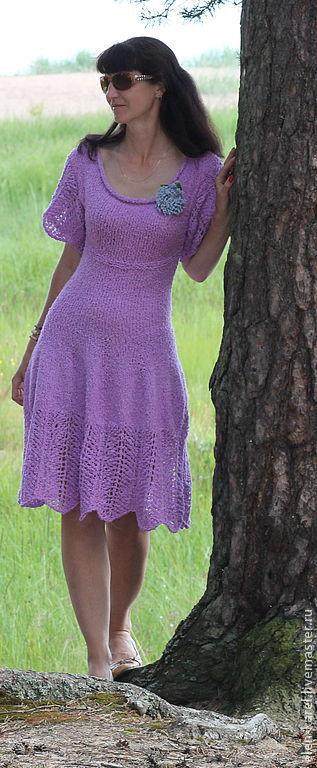 Платья ручной работы. Ярмарка Мастеров - ручная работа. Купить Сиреневый туман Платье. Handmade. Сиреневый, ажурная юбка
