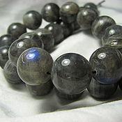Материалы для творчества handmade. Livemaster - original item Labradorite beads 14mm, smooth ball. Handmade.